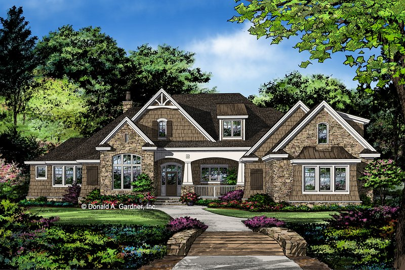 Architectural House Design - Ranch Exterior - Front Elevation Plan #929-1087