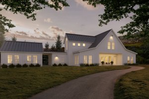 Home Plan - White modern farmhouse