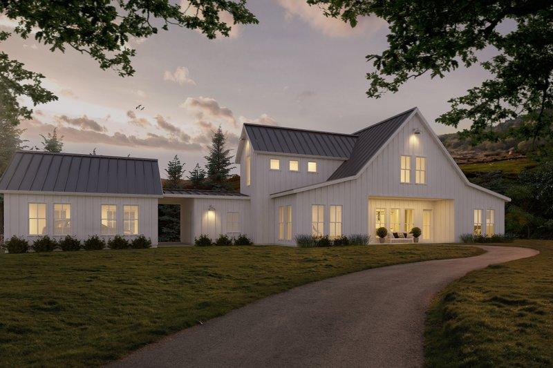 Architectural House Design - White modern farmhouse