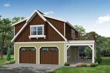 Home Plan - Farmhouse Exterior - Front Elevation Plan #124-893