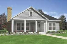 Southern Exterior - Front Elevation Plan #410-293