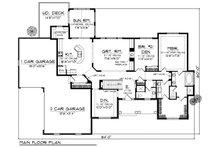 European Floor Plan - Main Floor Plan Plan #70-874