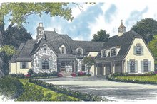 House Plan Design - European Exterior - Front Elevation Plan #453-44