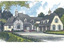 Dream House Plan - European Exterior - Front Elevation Plan #453-44
