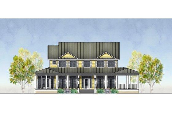 Exterior - Front Elevation Plan #575-2
