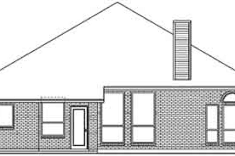 Traditional Exterior - Rear Elevation Plan #84-233 - Houseplans.com