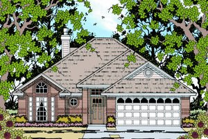 Architectural House Design - Traditional Exterior - Front Elevation Plan #42-105