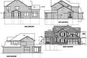 Traditional Style House Plan - 3 Beds 2.5 Baths 2339 Sq/Ft Plan #100-224 Exterior - Rear Elevation