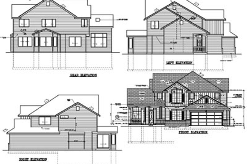 Traditional Exterior - Rear Elevation Plan #100-224 - Houseplans.com