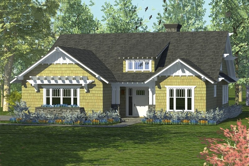 Craftsman Style House Plan - 4 Beds 3 Baths 2519 Sq/Ft Plan #453-59 Exterior - Front Elevation