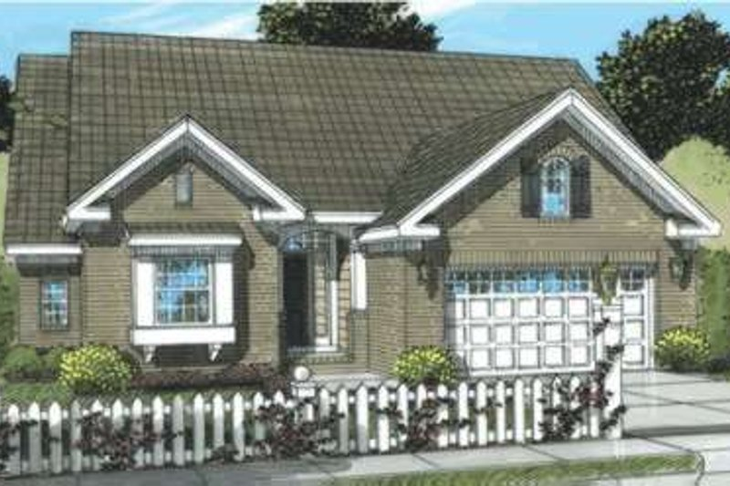Traditional Exterior - Front Elevation Plan #20-1872 - Houseplans.com