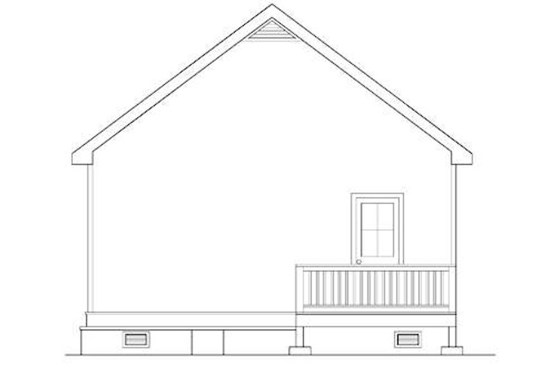 Cottage Exterior - Rear Elevation Plan #419-226 - Houseplans.com