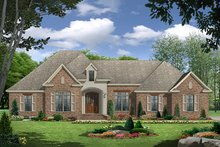 Dream House Plan -  EUROPEAN / TRADITIONAL, Front Elevation