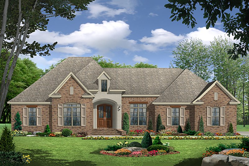 EUROPEAN / TRADITIONAL, Front Elevation