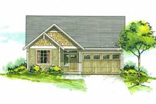 Home Plan - Cottage Exterior - Front Elevation Plan #53-623