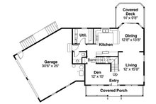 Colonial Floor Plan - Main Floor Plan Plan #124-838