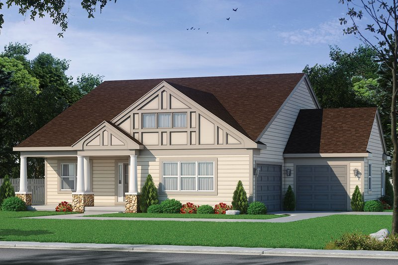 Home Plan - European Exterior - Front Elevation Plan #20-2335