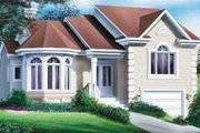 European Style House Plan - 3 Beds 1 Baths 1422 Sq/Ft Plan #25-316 Exterior - Front Elevation