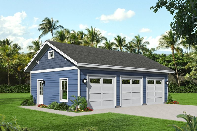 Country Exterior - Front Elevation Plan #932-121
