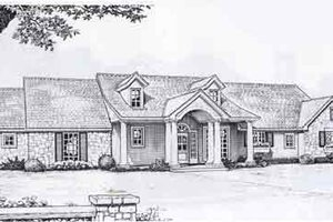 Traditional Exterior - Front Elevation Plan #310-895