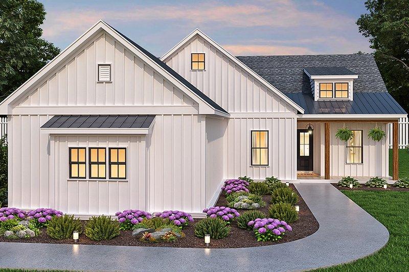 Dream House Plan - Farmhouse Exterior - Front Elevation Plan #119-437