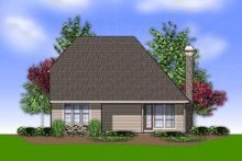 Dream House Plan - Traditional Exterior - Rear Elevation Plan #48-568