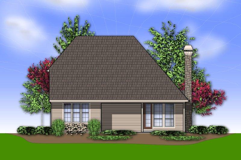 Traditional Exterior - Rear Elevation Plan #48-568 - Houseplans.com