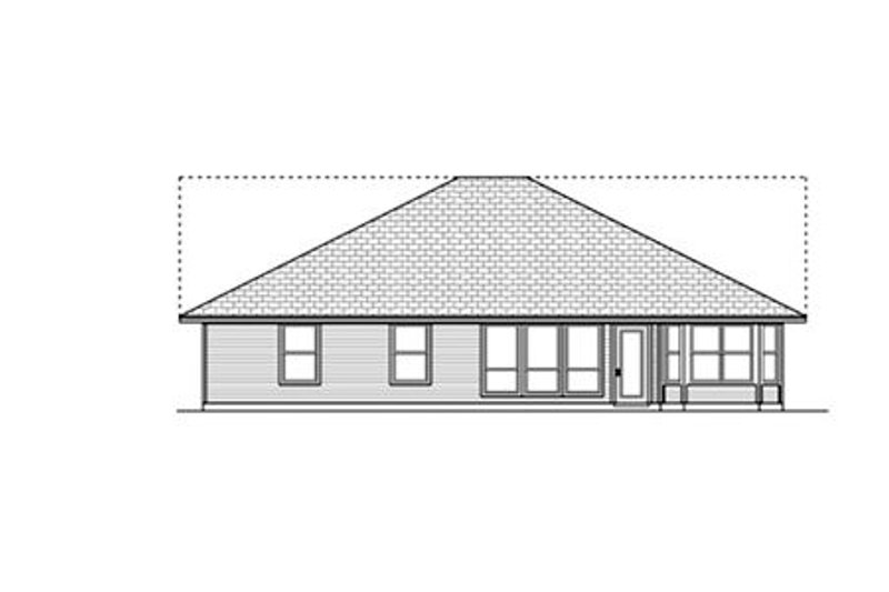 Country Exterior - Rear Elevation Plan #84-476 - Houseplans.com
