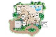 Mediterranean Style House Plan - 5 Beds 4.5 Baths 4354 Sq/Ft Plan #27-375 Floor Plan - Main Floor Plan