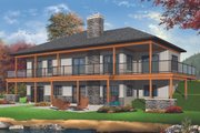 Craftsman Style House Plan - 4 Beds 2.5 Baths 2890 Sq/Ft Plan #23-2712 Exterior - Rear Elevation