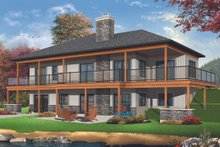 Architectural House Design - Craftsman Exterior - Rear Elevation Plan #23-2712