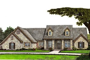 European Exterior - Front Elevation Plan #310-652