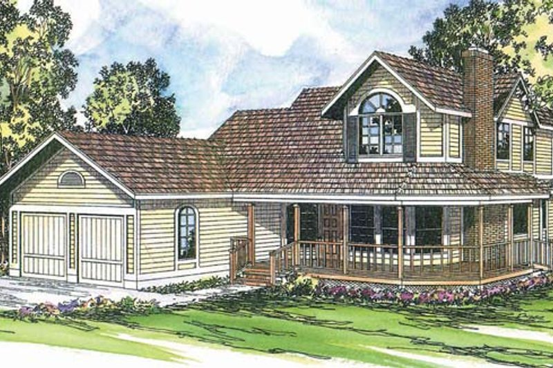 Home Plan - Traditional Exterior - Front Elevation Plan #124-109