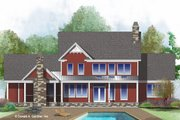 Farmhouse Style House Plan - 4 Beds 3.5 Baths 2546 Sq/Ft Plan #929-1039 Exterior - Rear Elevation