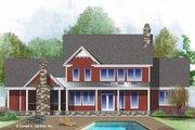 Farmhouse Style House Plan - 4 Beds 3.5 Baths 2546 Sq/Ft Plan #929-1039 Exterior - Rear Elevation