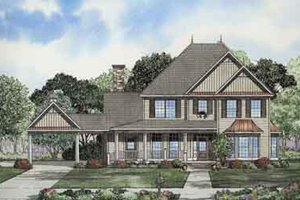Country Exterior - Front Elevation Plan #17-2096