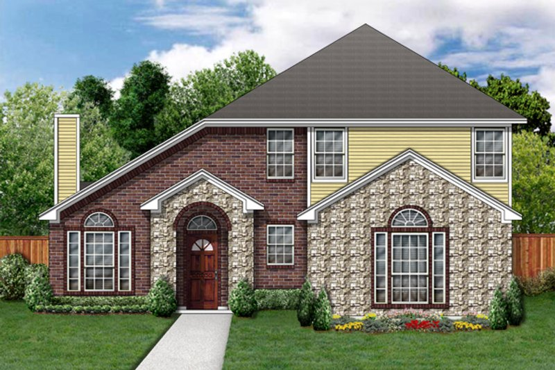 Traditional Exterior - Front Elevation Plan #84-364 - Houseplans.com