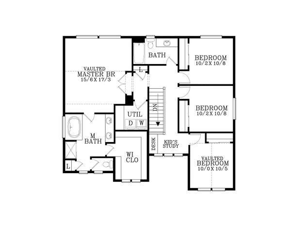 Craftsman Floor Plan - Upper Floor Plan #53-516