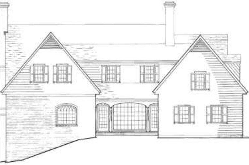 Southern Exterior - Rear Elevation Plan #137-235 - Houseplans.com