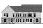 Craftsman Style House Plan - 3 Beds 2 Baths 1816 Sq/Ft Plan #21-366 Exterior - Rear Elevation