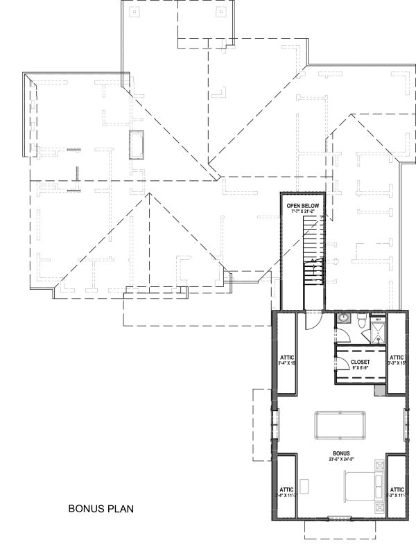Farmhouse Floor Plan - Upper Floor Plan Plan #1069-18