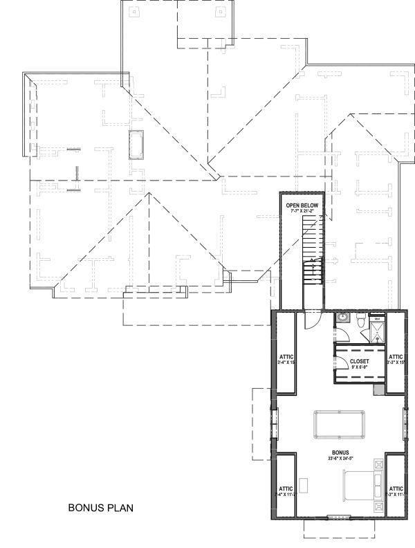 Farmhouse Floor Plan - Upper Floor Plan #1069-18