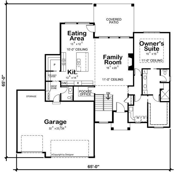 House Plan Design - Contemporary Floor Plan - Main Floor Plan #20-2461