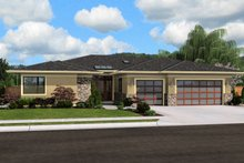 Dream House Plan - Modern Exterior - Front Elevation Plan #48-603