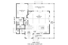 Country Floor Plan - Main Floor Plan Plan #932-33
