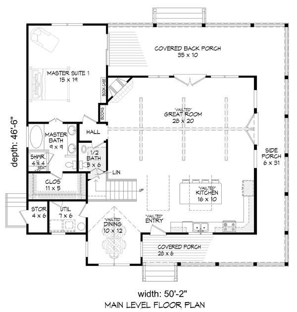 Country Floor Plan - Main Floor Plan #932-33