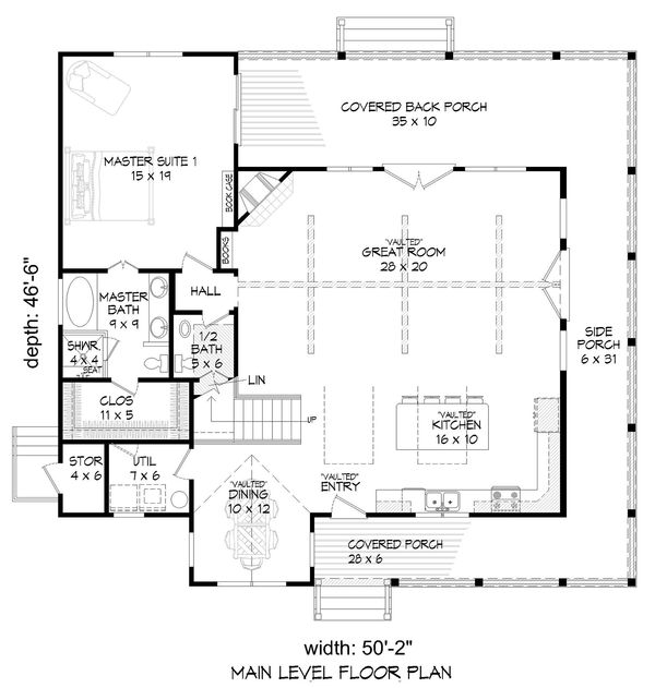 Country Floor Plan - Main Floor Plan Plan #932-33
