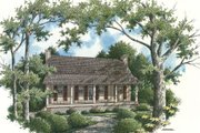 Cabin Style House Plan - 2 Beds 2 Baths 1034 Sq/Ft Plan #45-335 Exterior - Rear Elevation