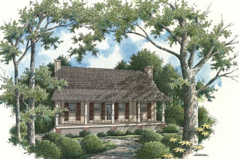 Cabin Exterior - Rear Elevation Plan #45-335 - Houseplans.com