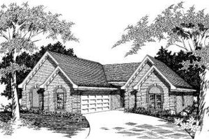 European Exterior - Front Elevation Plan #329-109
